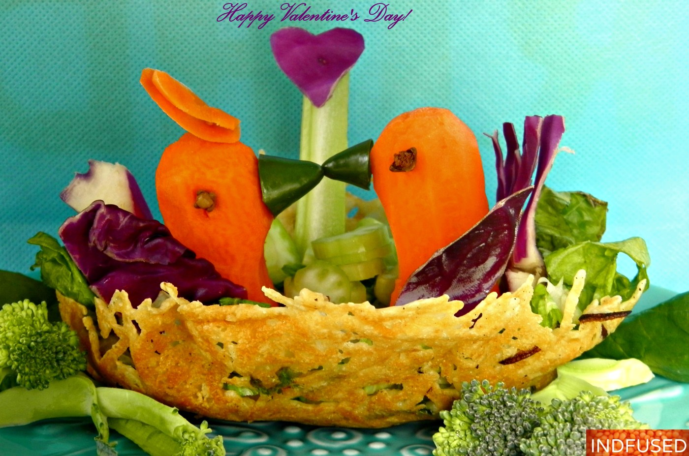 #easy #healthy #recipe for #Valentine's Day#Kraft Parmesan nest bowl with jalapenos ,#salad with#coconut curry dressing