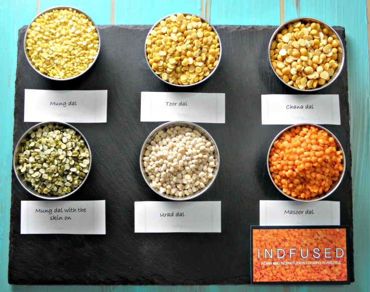 Varied dals used in Indian cooking