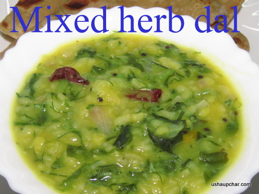 Usha's Mixed Herb Dal