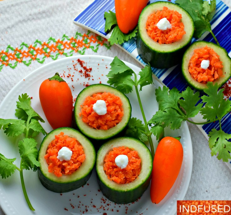 Cool, crisp cucumber cups make a healthy , yummy fingerfood!