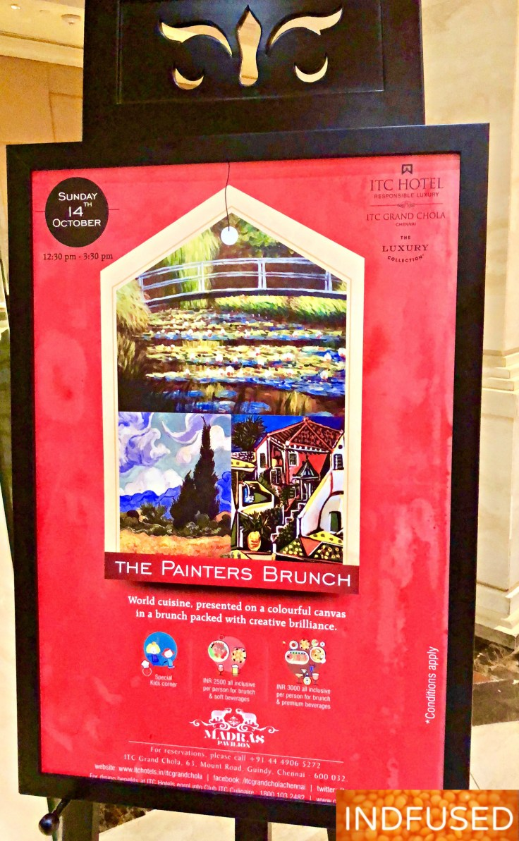 World cuisine at The Painter's Brunch @ Madras Pavilion