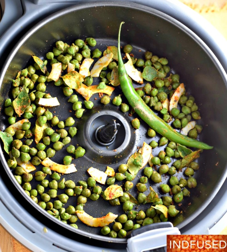 Air Fryer Green Chickpeas- The new superfood is crispy on the outside and soft on the inside and absolutely moreish!