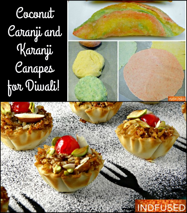 Coconut Caranji and Karanji Canapes