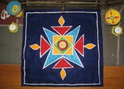 Rangoli floor decorations