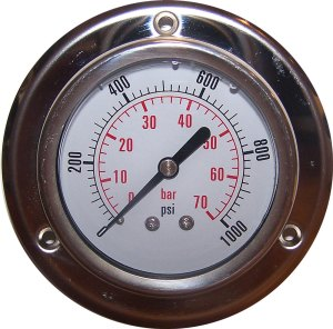 1000 PSI - Panel Flange Gauge