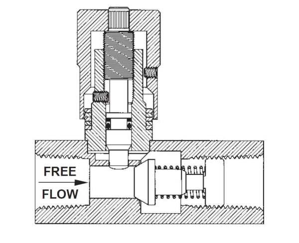 Flow Control Valve - SAE 6 - Viton
