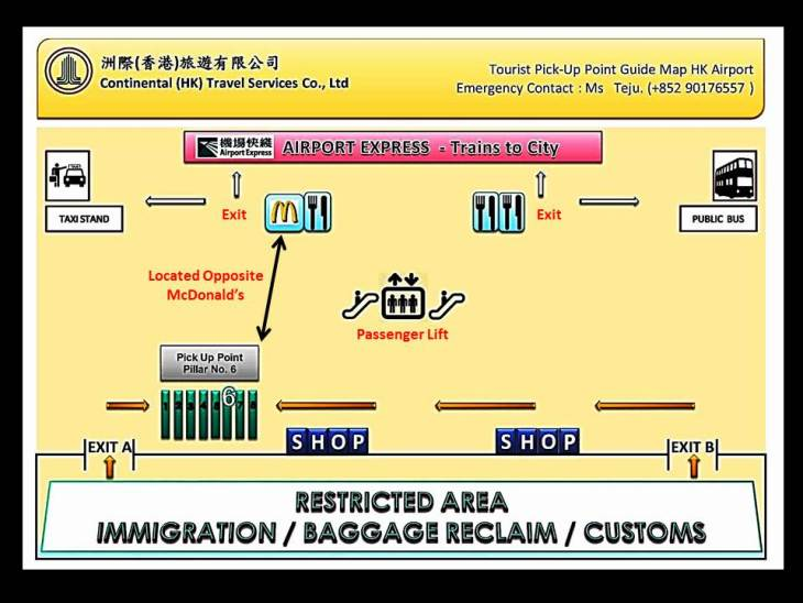 HKIA Arrival Hall Map A