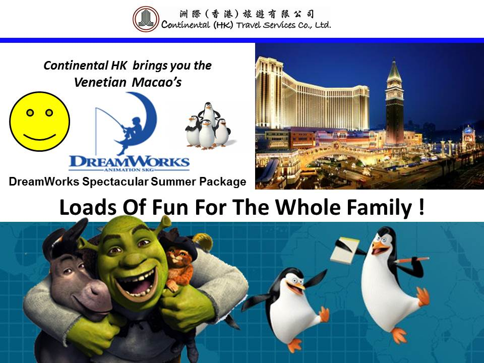 DreamWorks Spectacular Summer package Venetian Macao