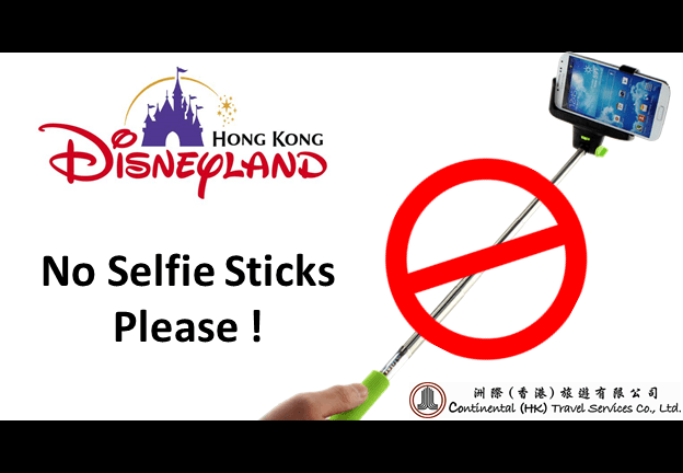 disneyland bans selfie sticks inside park continental hk india market. Black Bedroom Furniture Sets. Home Design Ideas