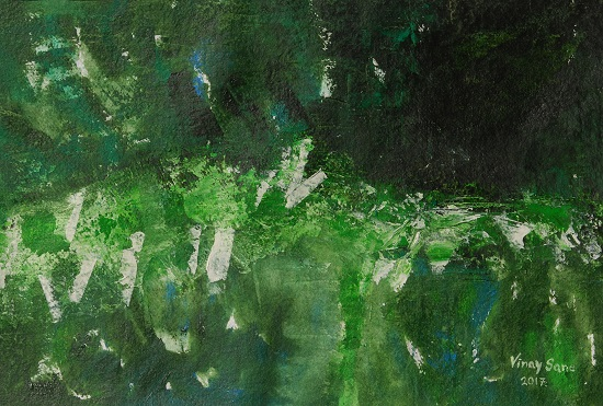 The Greens, painting by Vinay Sane