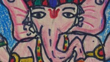 Ganesha painting for painting contest Khula Aasmaan