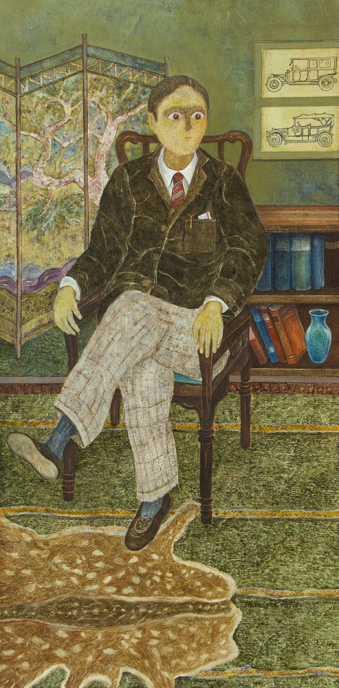 Gentleman, painting by Manisha Patil, Acrylic on Canvas, 48 x 24 inches