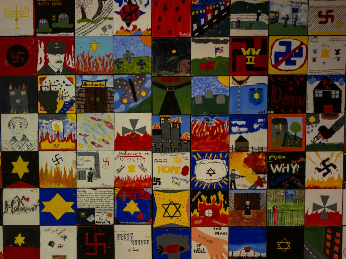 Tiles created by child artists and young artists after a visit to Virginia Holocaust Museum - 3