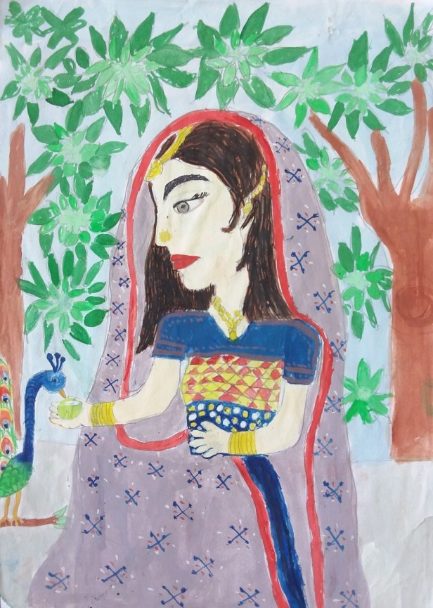 Painting by Anuri Madhuashis - child artist from Khula Aasmaan