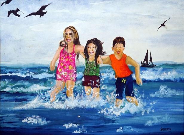 Prize winning artwork by Shreeya Prabhune (born : 2005), New English School, Satara, Maharashtra from Khula Aasmaan kids drawing competition