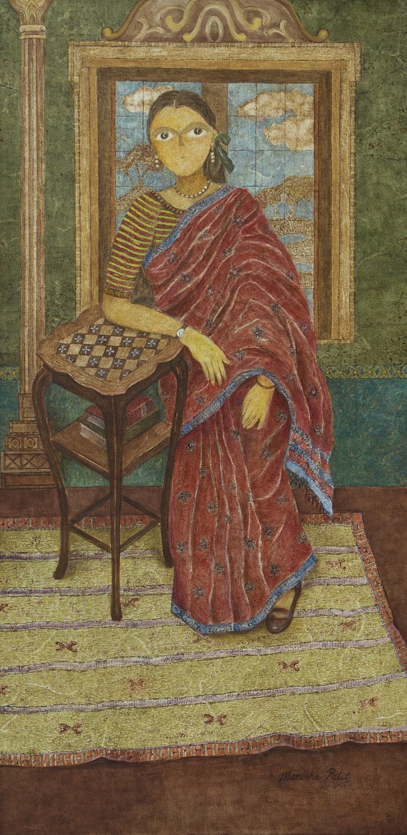 The suitable girl, painting by Manisha Patil