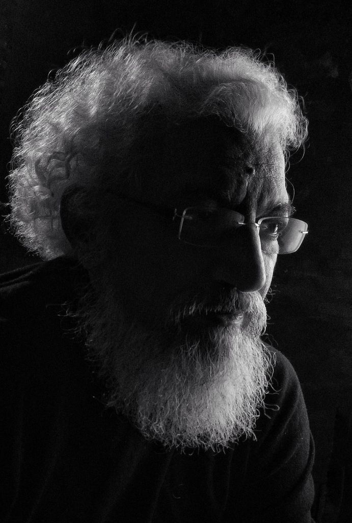 Journalist, author and artist Prakash Bal Joshi is known for his thought provoking abstract art on themes such as climate change, human consciousness and artificial intelligence