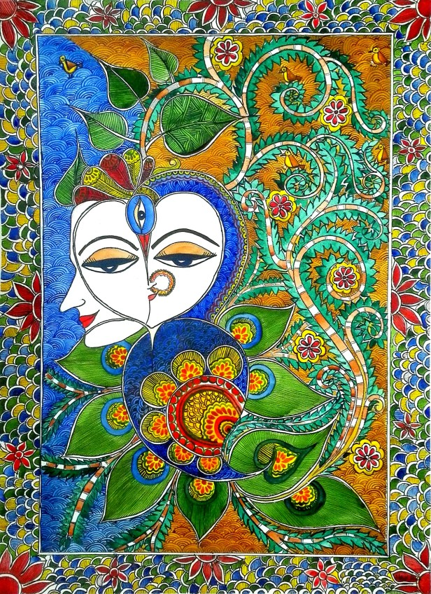 The Soul Unity, painting by Nehal Shah, Watercolour on Paper, 30 x 22 inches