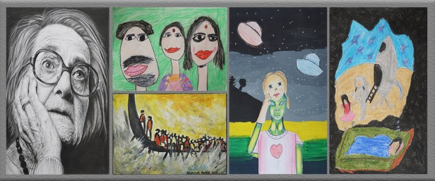 Kids art competition and student art competition by Khula Aasmaan result for Jan to March 2019 announced with medal winners, honorable mentions and contest shortlist
