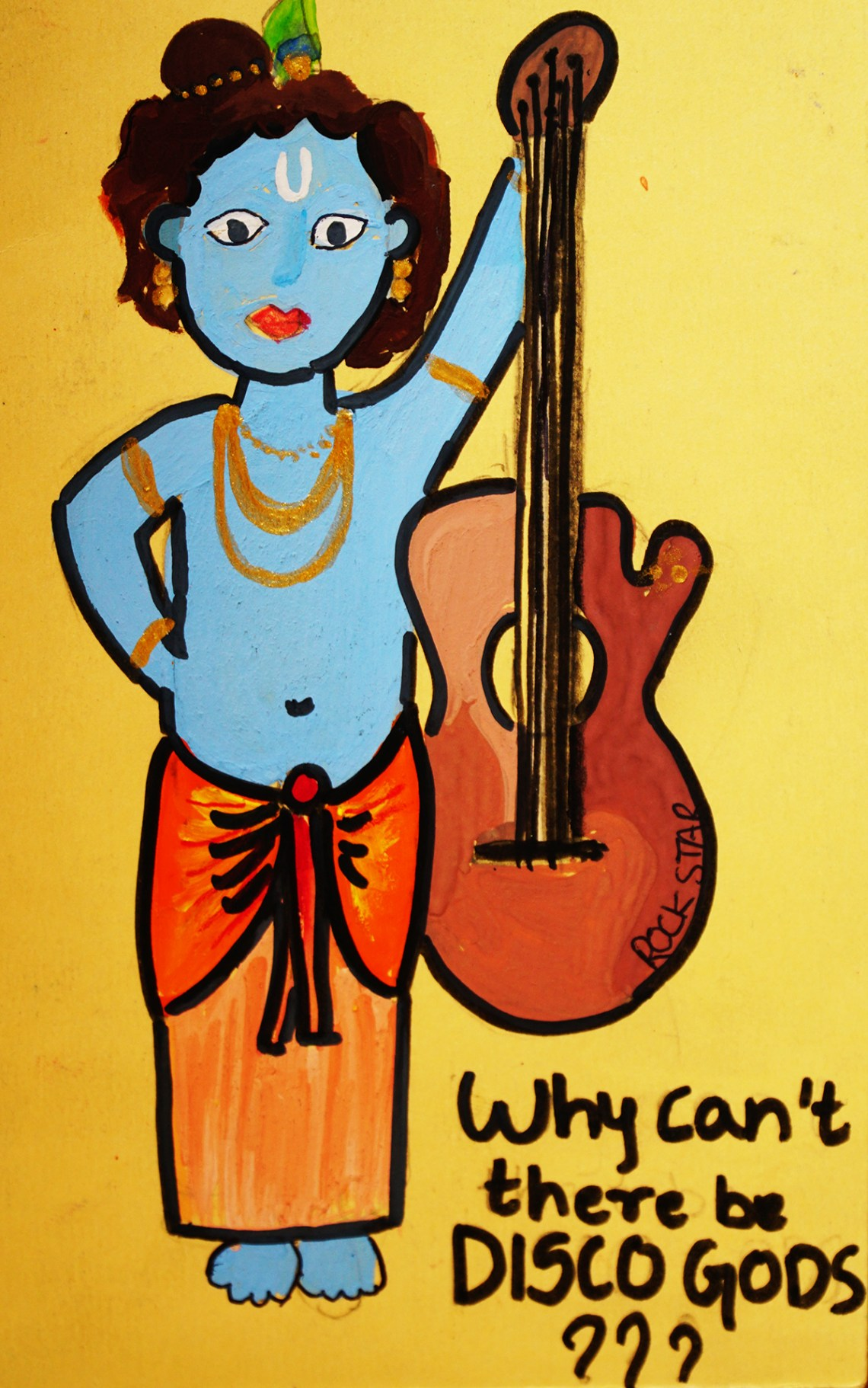 Painting by Jasika Sawant - Art on Postcard - part of kids drawing competition by Khula Aasmaan