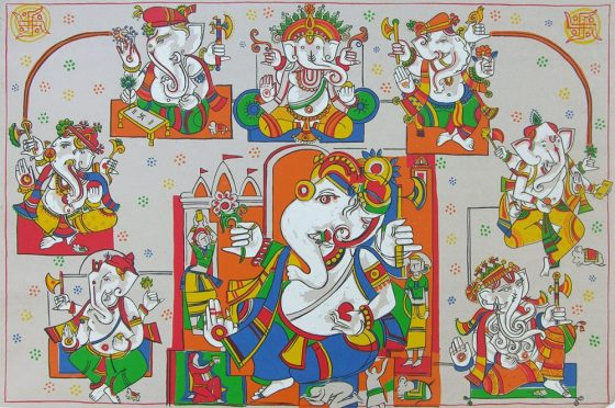 Ashtavinayak, Print by Jagdeep Smart, Screenprint in 11 colours, 28 x 39.5 inches