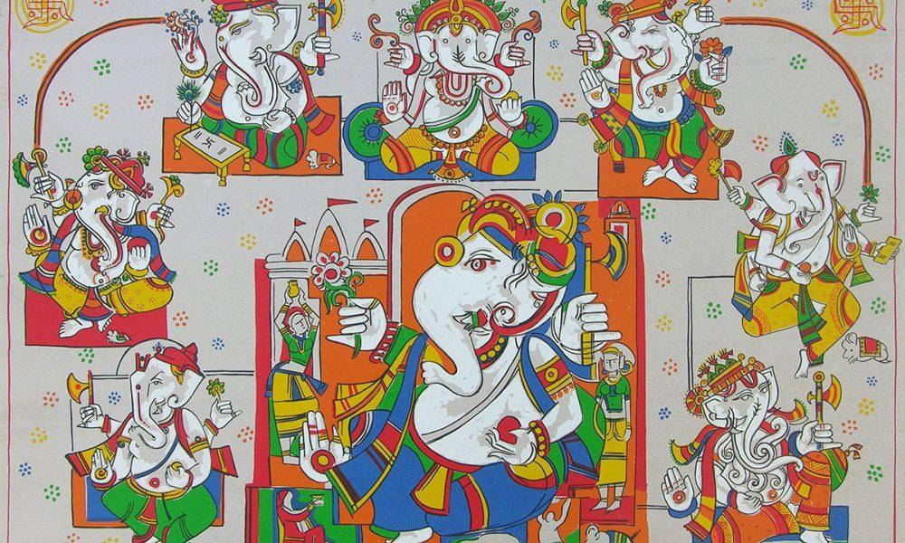 Ashtavinayak, Print by Jagdeep Smart, Screenprint in 11 colours, 28 x 39.5 inches