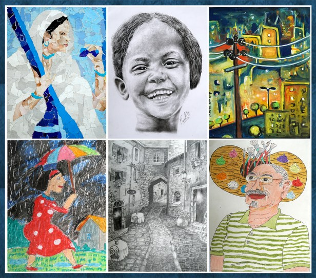 Cash prizes announced for medal winners and honorable mention artworks from Khula Aasmaan painting competition for April to June 2019