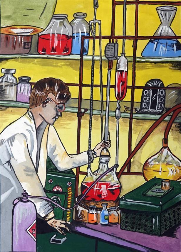 Painting by Shruti Dinesh Kakade, 13 years, Carmel High School, Thane