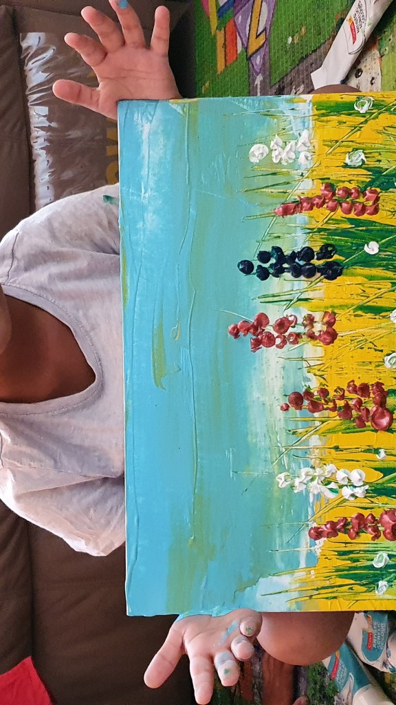 """Painting by Sharvil Karajgi on day 1 of lockdown - part of """"Art in the time of coronavirus - hope and positivity through creativity"""""""