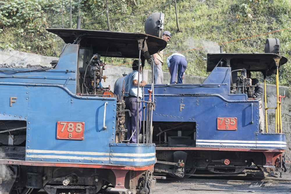 Getting the steam locomotives of DHR ready for the journey