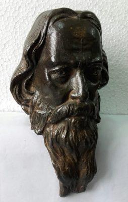 Gurudev Rabindranath Tagore bronze sculpture by Tanmay Banrjee
