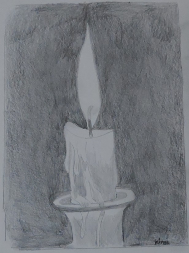 Ray of hope, pencil sketch by Dr. Kiran Kharat, Pune (art during lockdown - day 2 of lockdown)