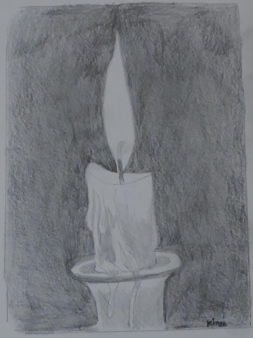 Ray of hope, pencil sketch by Dr. Kiran Kharat, Pune (art during lockdown - day 2 of lockdown)
