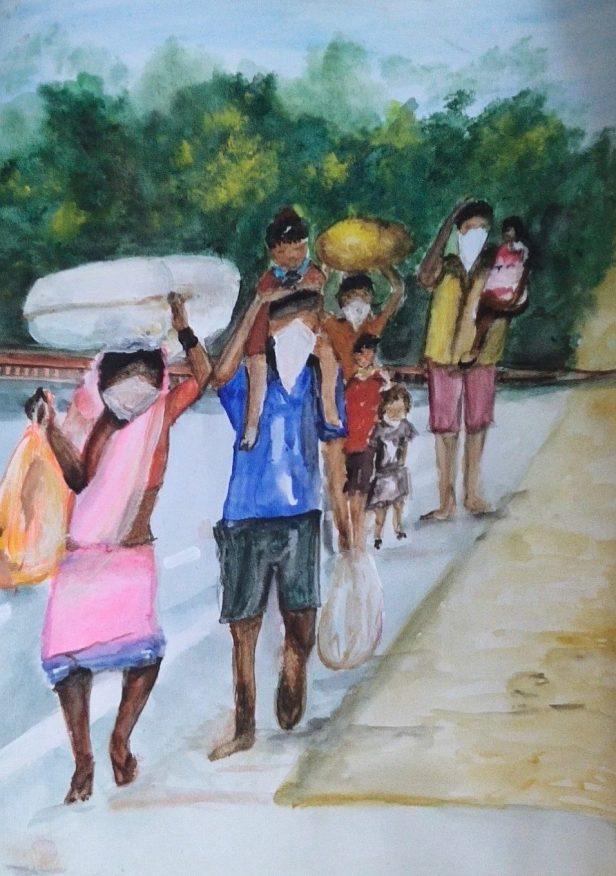 Painting by Menaka Jain is one of the paintings during lockdown