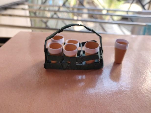 Tapri vali chai -2, made using Quilling paper strip by Ankita Koyande, Mumbai - art in lockdown to fight coronavirus pandemic