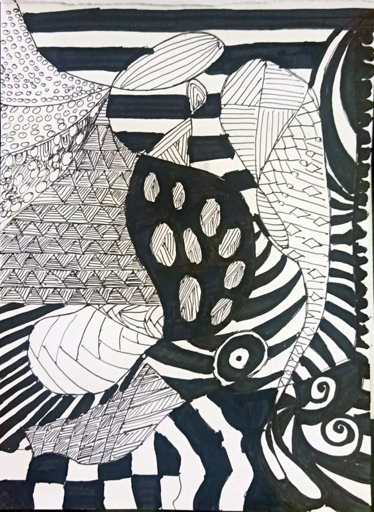 Doodle art by Bhadra Sanjeev, Thiruvananthapuram