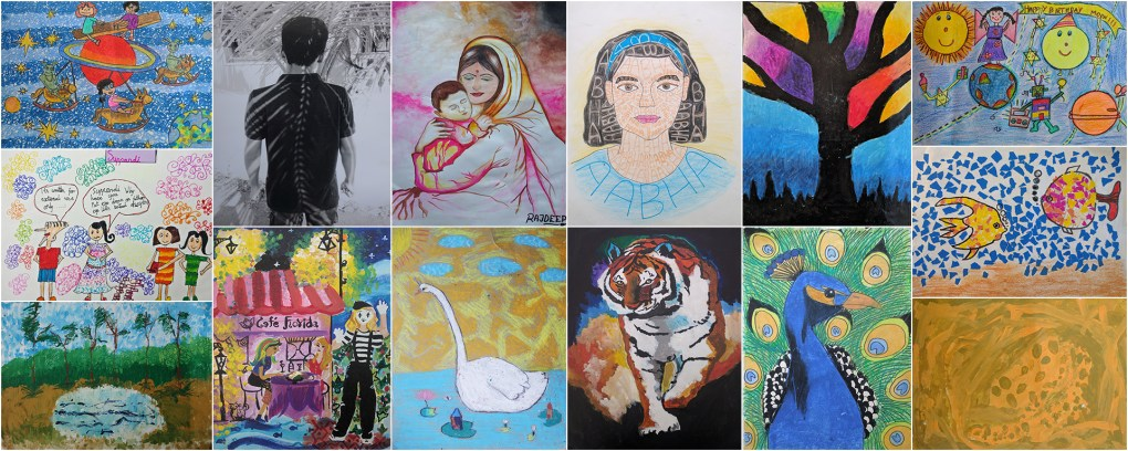 art contest results for Khula Aasmaan free online art contest for October to December 2016