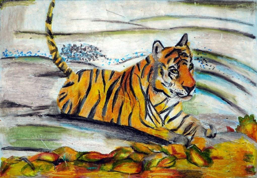 Painting by Saavi Dhavle, 10 years, Sevasadan English Medium School, Pune, Maharashtra