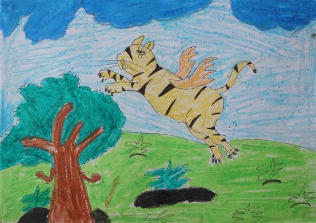 Painting by Vaishali Lahanu Mandal,Class 7, Warvada Ashramshala, Tal. Talasari, Dist. Palghar, Maharashtra