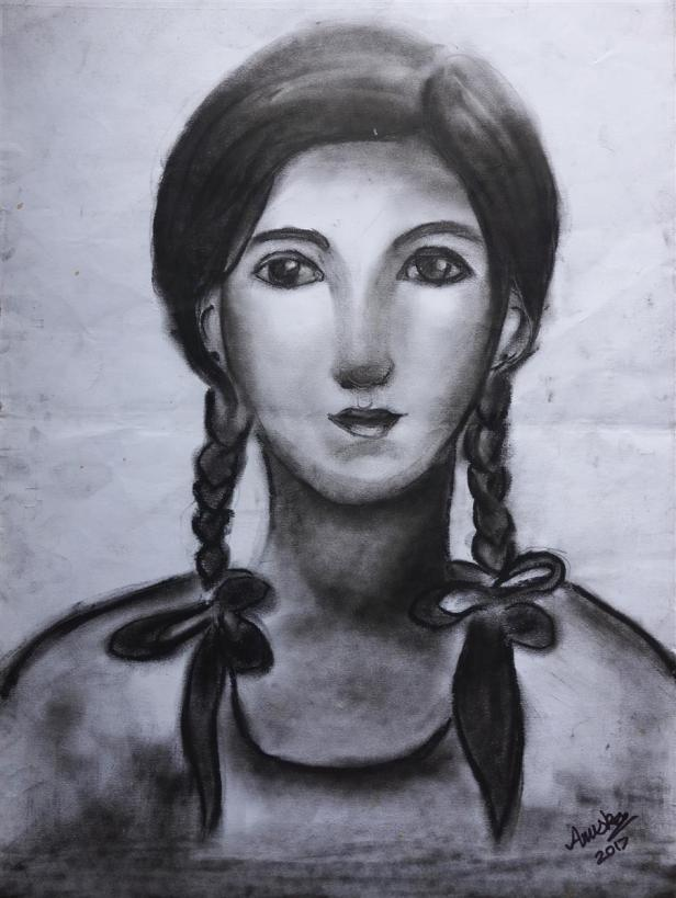 Painting by Anuska Biswas (born 2004), La Martiniere for Girls, Kolkata