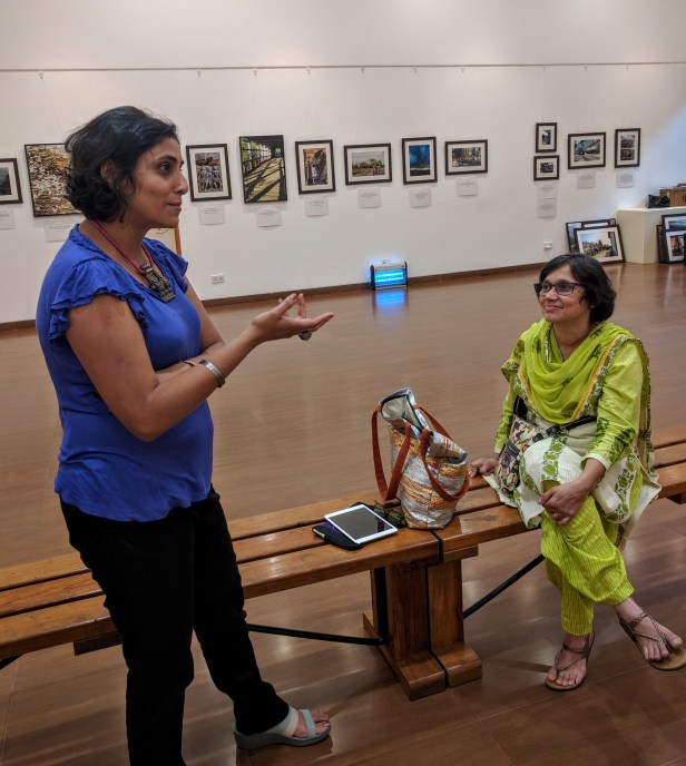 Artist Ami Patel in conversation with Gauri Ketkar and others at Nehru Centre Mumbai