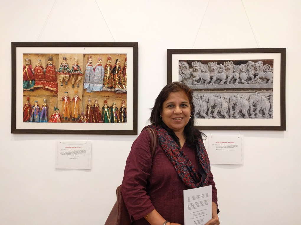 Artist Manisha Patil at Milind Sathe's solo photography show at Nehru Centre, Mumbai (August 2016)