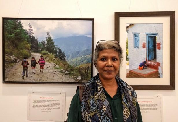 Artist Milburn Cherian at my photography exhibition at Nehru Centre Mumbai