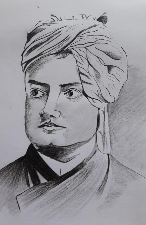 Swami Vivekananda by Esha Kundu