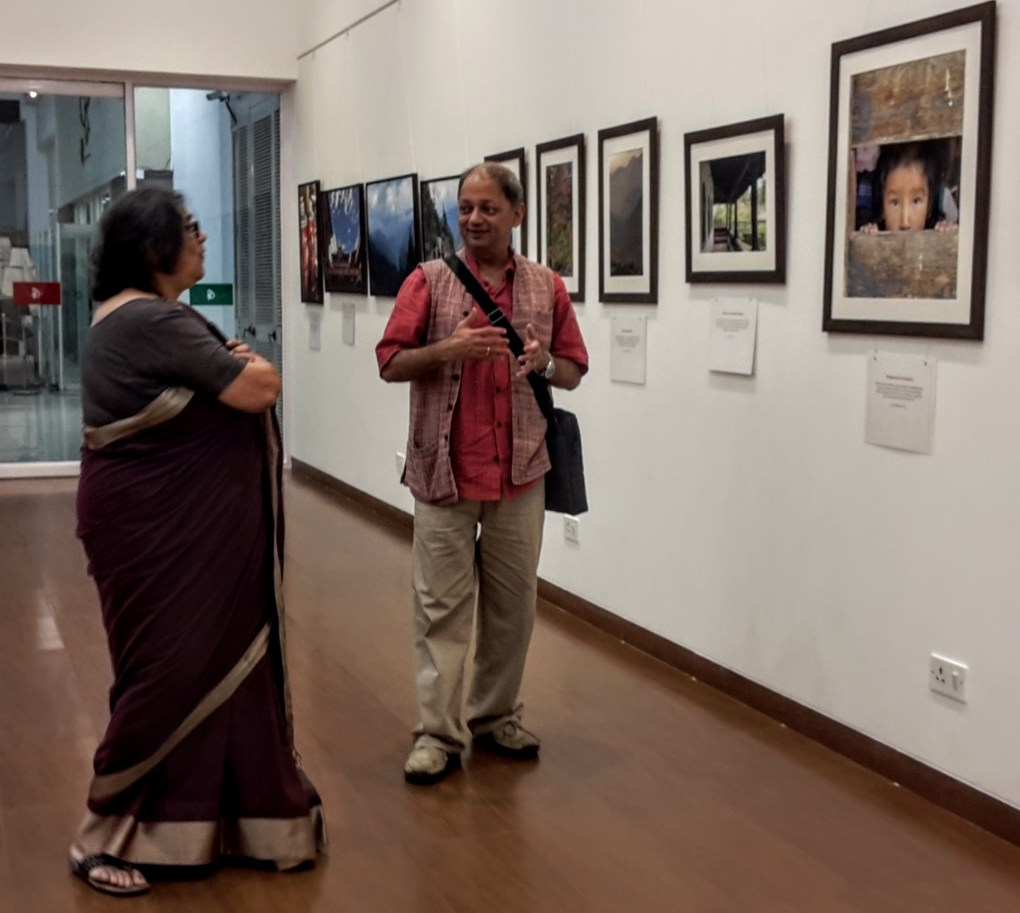 Milind Sathe with Mrs. Nina Rege, Director, Nehru Centre Art Gallery, Mumbai