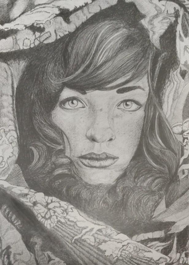 Expressions, pencil sketch by Ruchi Rana, NOIDA