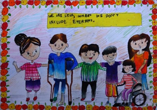 Painting by Aayushi Sen (11 years), Kolkata, West Bengal - Bronze medal