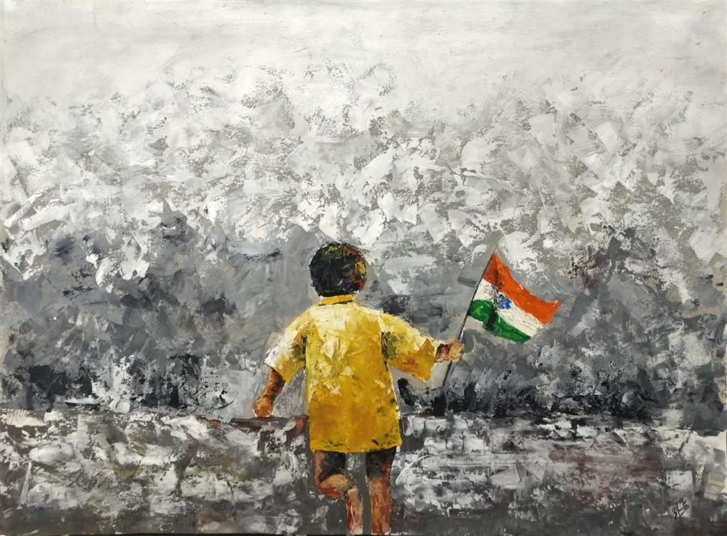 Painting by Amita Rajender Saroya, Blossom Public School, Pune - Gold medal in Khula Aasmaan free online painting competition - 4