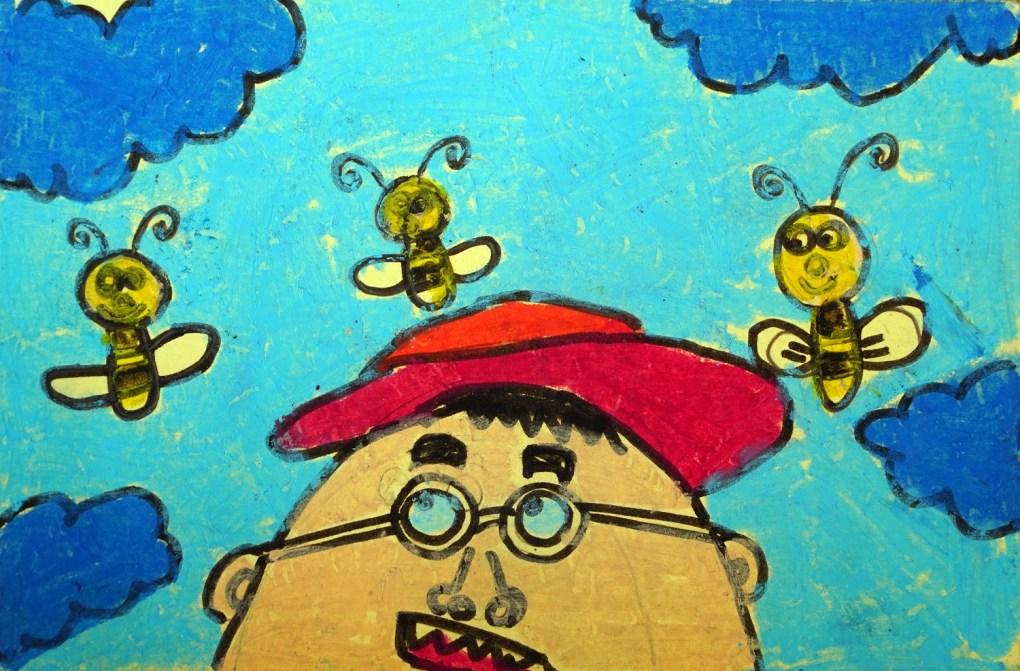 Postcard painting by Armaan Jain (7 years), Mumbai, Maharashtra - shared on world post day