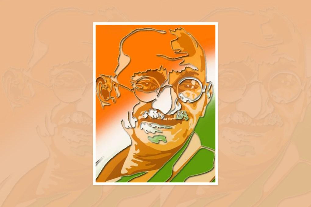 "Artwork by Vijay Kumar J, Gulbarga, Karnataka, India - one of the select artworks from International art competition ""World of Mahatma Gandhi"""